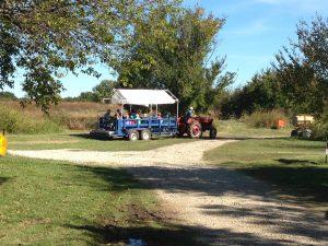 antique tractor hayrack ride